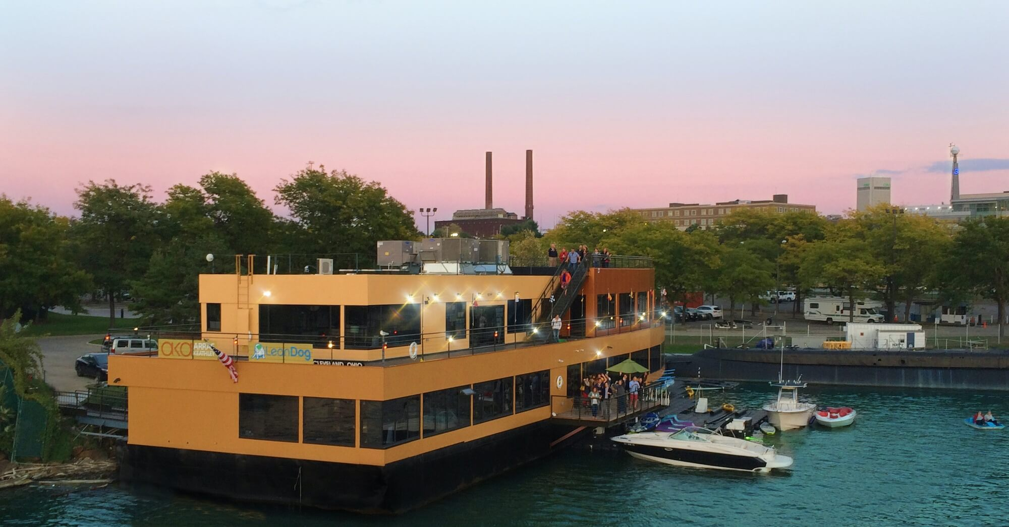 The LeanDog Boat - Office and Event Venue - Barge 225