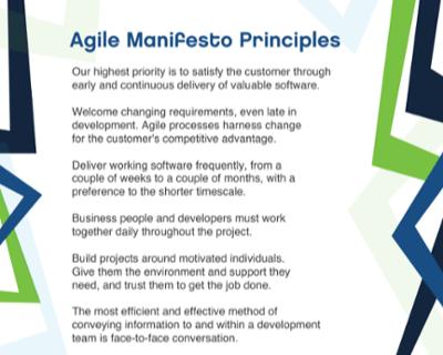 agile manifesto principles poster